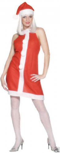 Santa's Apron Dress and Hat Sexy Fancy Dress (Smiffys)